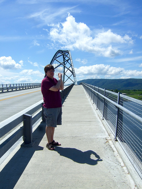 Max L. on the Champlain Bridge