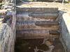 Stairs to the frigidarium's pool.