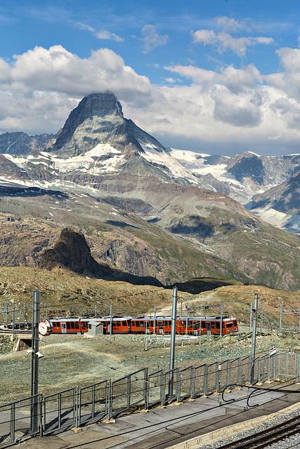 Gornergratbahn und Matterhorn