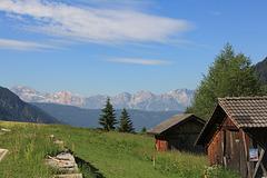 Blick vom Gsiesertal auf die Pragser Dolomiten