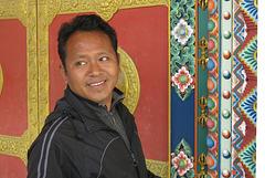 Un artiste peintre, Monastère de Kopan, Kathmandu (Népal)
