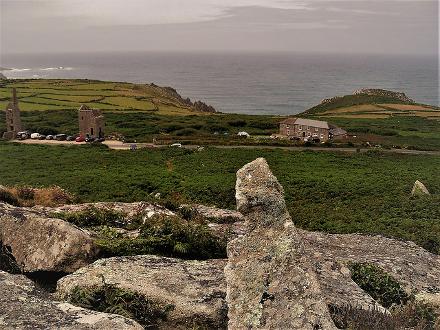Carn Galver tin mine and count house.