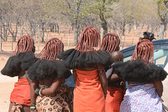 Namibia, Women Traditional Hairstyle of Himba People