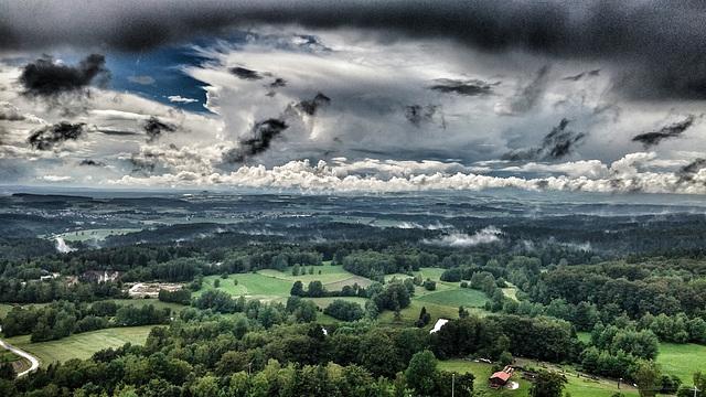 so gefährlich ist die Oberpfalz - Blick von der Flossenbürgburg