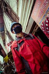 Barbijos en Katmandú