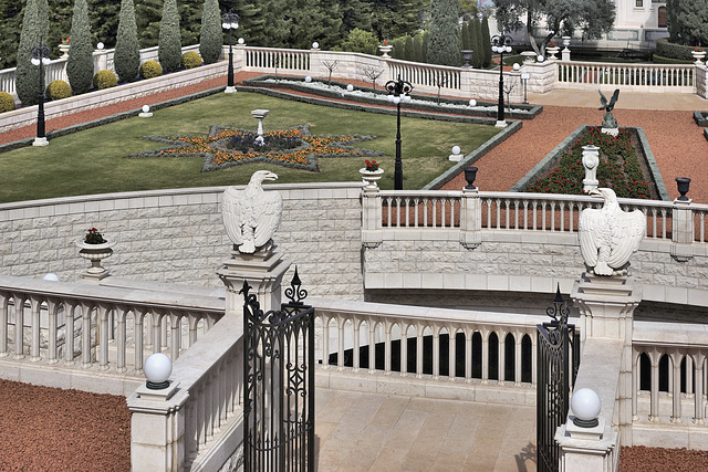Guarding the Gates – Baha'i Gardens, Haifa, Israel