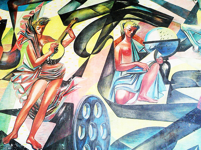 Mural in the foyer of the Cinema City Alvalade