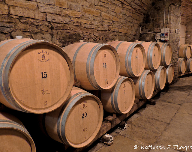 Before the Glass, the Casks!!  Savignola Paolina Winery, Greve in Chianti Tuscany