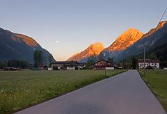 Sonnenaufgang im Leutaschtal (5Uhr36)