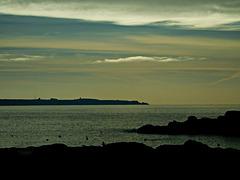 couleurs d'après midi, ILE DE GROIX à l'horizon