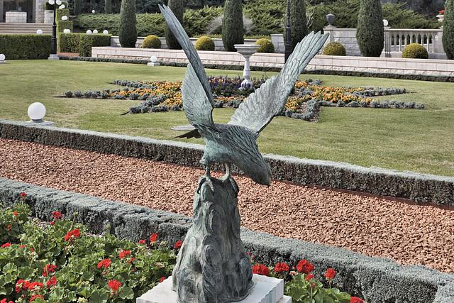 Bronze Eagle – Baha'i Gardens, Haifa, Israel