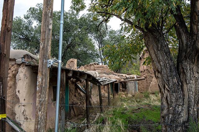 Ramshackle buildings in the village2
