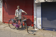Vélocycliste.