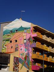 Mural of Amadora Health Care Centre.