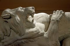 """""""Combat entre un tigre et un lion"""" (Émile-Joseph-Alexandre Gouget - 1870)"""