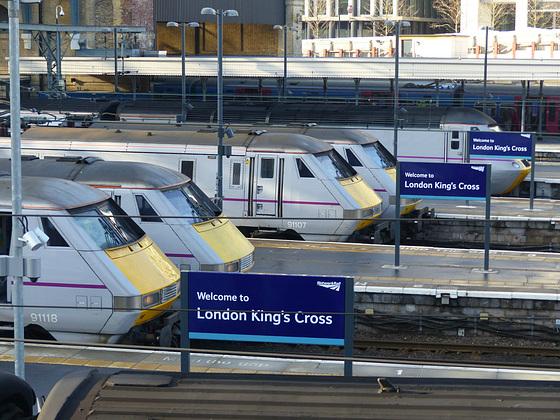 East Coast Line-Up at Kings Cross - 19 January 2015