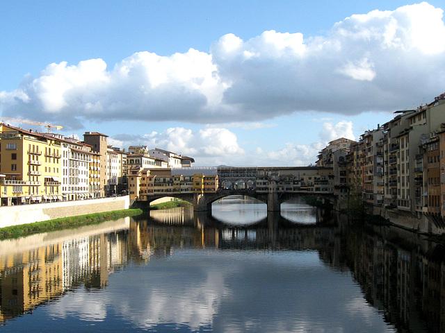 l'Arno e Ponte Vecchio