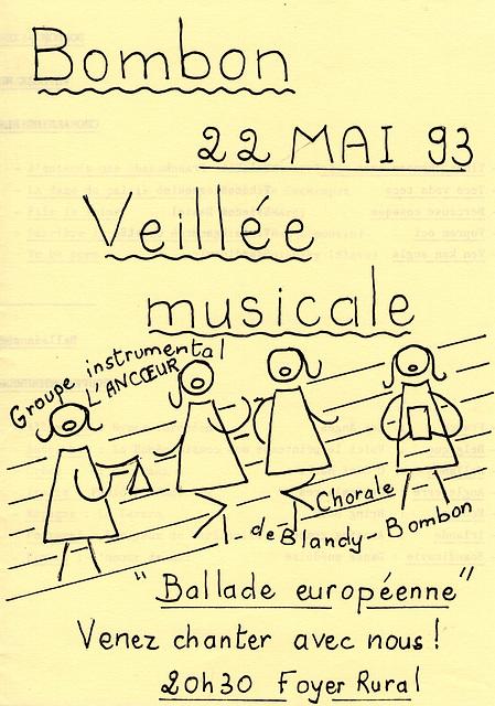 Concert à Bombon le 22 mai 1993