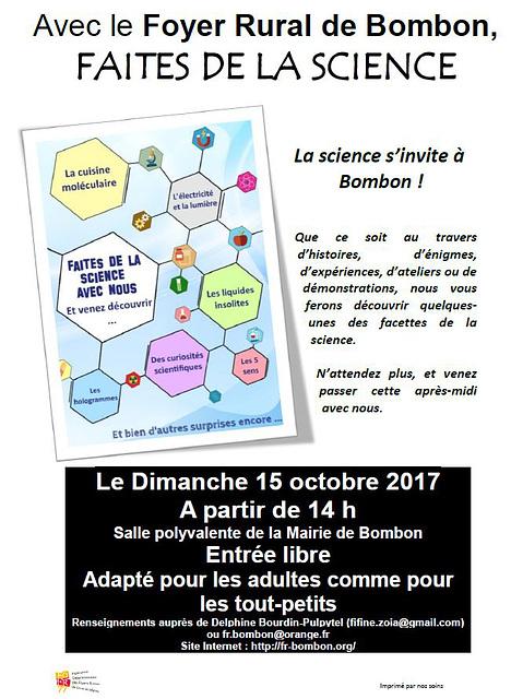 Faites de la science - 15/10/2017