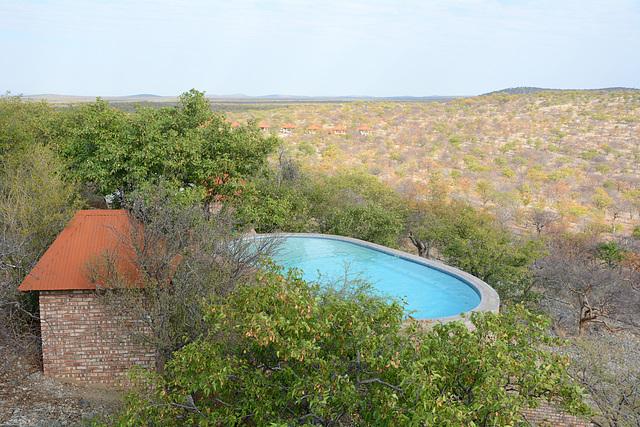 Namibia, Pool in Etosha Safari Lodge Gondwana