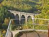 Blick von der Aussichtskanzel auf den Hetzdorfer Viadukt