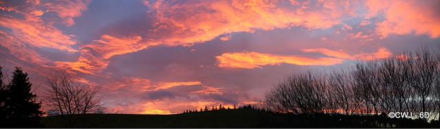 Pre-dawn skies at 08.45 this morning - shortest day.