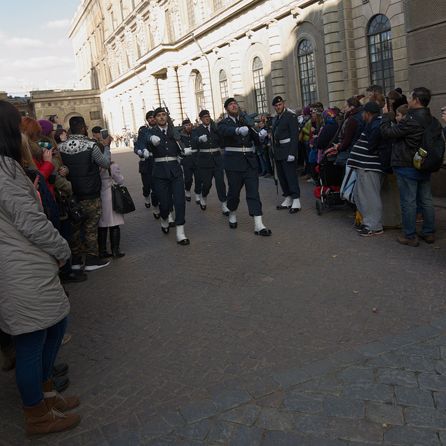 Wachablösung bei Stockholmer Schloss