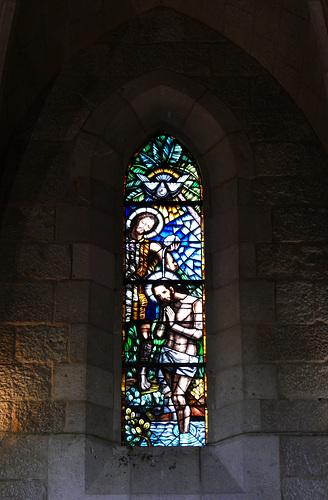 Spagna 2019 Figueres chiesa Sant Pere vetrata