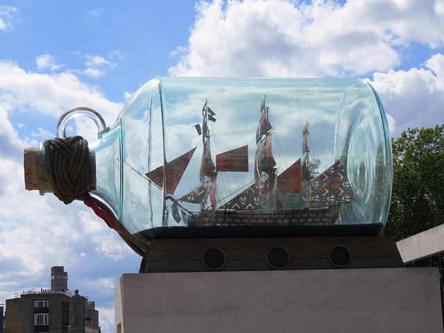 ship in a bottle, greenwich , london