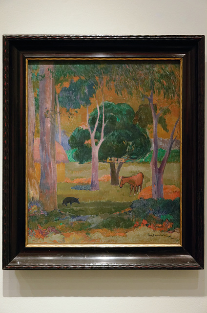 """""""Paysage avec un cochon et un cheval"""" (Paul Gauguin - 1903)"""