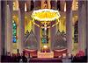 Barcellona : La Sagrada Familia - l'altare e l'organo doppio