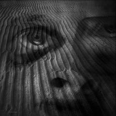 hiding under the sand