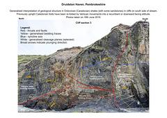 Druidston Haven: Cliff Section 3 interpretation
