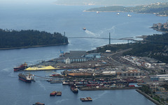 Aerial View of North Vancouver Docks