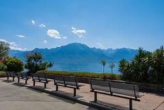 an der Uferpromenade von Montreux (© Buelipix)