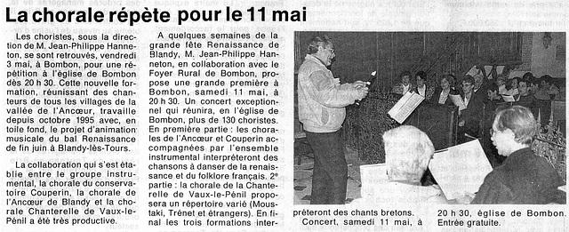Répétition Chorale Ancoeur 03 mai 1996