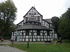 Ligna preĝejo - Drewniany kościół