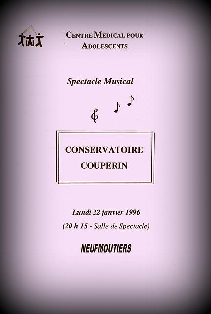Concert à Neufmoutiers le 22 janvier 1996