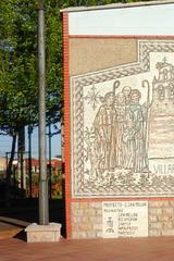 Mosaïque à Villar de Mazarife (Castille-et-León, Espagne)