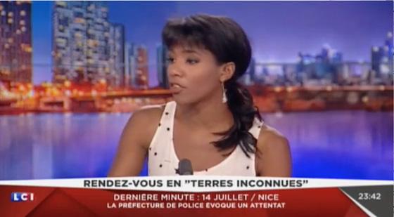 """LCI, 14 juillet 2016, """"Rendez-vous en Terres inconnues"""" — Marie-Aline-Méliyi"""