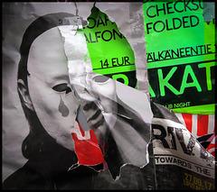 a mask revealed