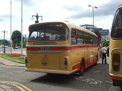 DSCF0538 Preserved Yelloway YDK 590 outside Rochdale Town Hall
