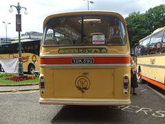 DSCF0539 Preserved Yelloway YDK 590 outside Rochdale Town Hall