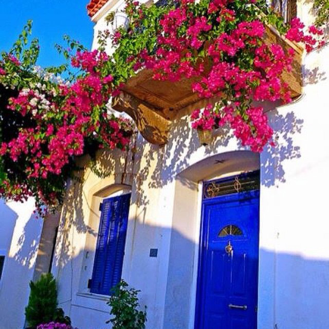 The typical colour scheme of Bodrum