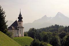 Wallfahrtskirche Maria Gern mit Watzmannmassiv