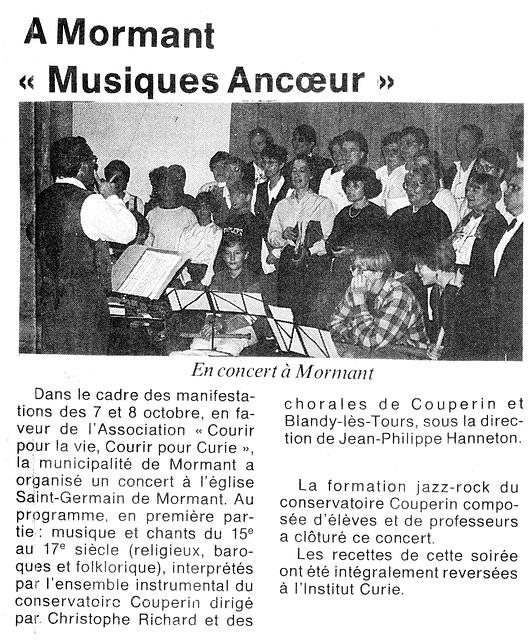 Concert à Mormant le 07/10/1995