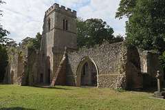 St Lawrence Old Church, a romantic ruin