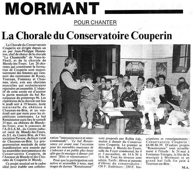 Répétition à Blandy 30 septembre 1995