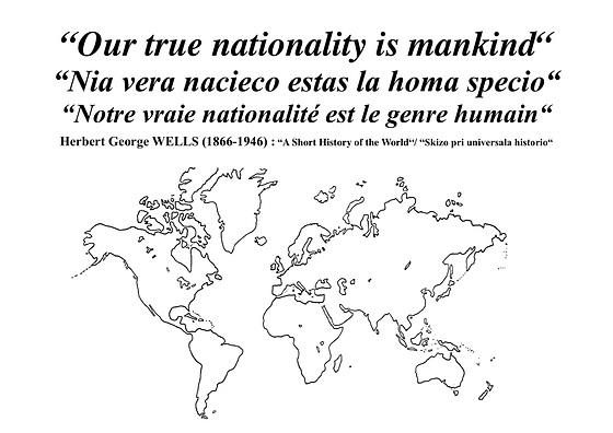 HG Wells — Nationality, nationalité, nacieco