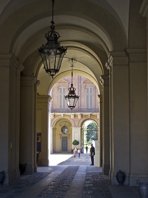 Turin, entrance to Royal Palace and the Gardens